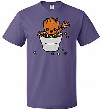 Buy A Pot Full Of Candies Unisex T-Shirt Pop Culture Graphic Tee (S/Purple) Humor Funny N