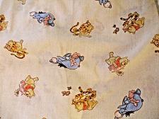Buy WINNIE THE POOH Fitted Crib Sheet Tigger Piglet Eeyor Beige Great in Nursery EUC