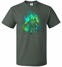 Buy Raputure Art Unisex T-Shirt Pop Culture Graphic Tee (2XL/Forest Green) Humor Funny Ne
