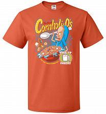 Buy Cornholios Unisex T-Shirt Pop Culture Graphic Tee (S/Burnt Orange) Humor Funny Nerdy