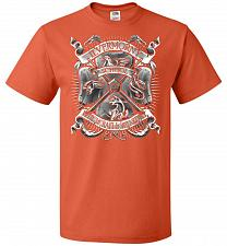 Buy Fantastic Crest Unisex T-Shirt Pop Culture Graphic Tee (M/Burnt Orange) Humor Funny N