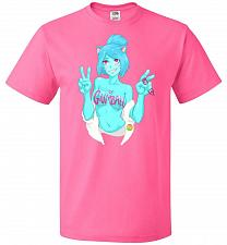 Buy Property Of Gumball Unisex T-Shirt Pop Culture Graphic Tee (2XL/Neon Pink) Humor Funn