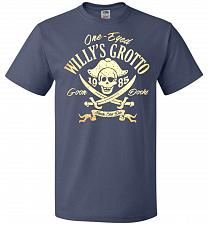 Buy Goonies One-Eye Willy's Grotto Adult Unisex T-Shirt Pop Culture Graphic Tee (4XL/Deni