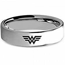 Buy coi Jewelry Tungsten Carbide Wonder Woman Wedding Band Ring