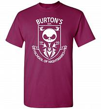 Buy Burton's School Of Nightmares Unisex T-Shirt Pop Culture Graphic Tee (S/Berry) Humor