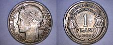 Buy 1939 French 1 Franc World Coin - France