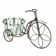 Buy *18487U - Galvanized Bucket Tricycle Bike Plant Stand Planter