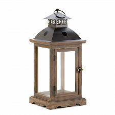 Buy *15420U - Large Rustic Monticello Wood Candle Lantern