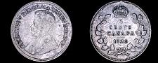 Buy 1920 Canada 5 Cent World Silver Coin - Canada - George V - Lot#9931