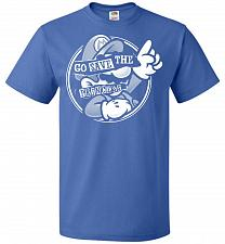 Buy Go Save The Princess Unisex T-Shirt Pop Culture Graphic Tee (2XL/Royal) Humor Funny N
