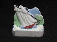 Buy Porcelain Ship Boat Figural Ashtray Snuffer Vintage Japan Nautical