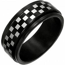 Buy coi Jewelry Tungsten Carbide Checkered Pattern Ring