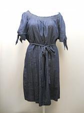 Buy TERRA & SKY Womens Smocked Shift Dress Denim Chambary PLUS SIZE 3X Short Sleeves
