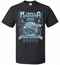 Buy Big Kahuna Burger Adult Unisex T-Shirt Pop Culture Graphic Tee (2XL/Black) Humor Funn
