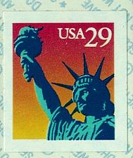 Buy 1994 29c Statue of Liberty Self-Adhesive Issue, Coil Scott 2599v Mint F/VF NH