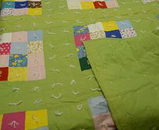 Buy Blocked Quilt Hand Tied Blocked With Border Multicolored Green Border 68X88