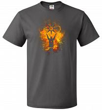 Buy Praise The Sun Art Unisex T-Shirt Pop Culture Graphic Tee (L/Charcoal Grey) Humor Fun