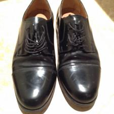 Buy mens leather shoes black size 8.5 by david taylor beautiful condition
