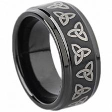 Buy coi Jewelry Black Tungsten Carbide Trinity Knot Ring