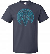 Buy Shadow of Alchemist Unisex T-Shirt Pop Culture Graphic Tee (4XL/J Navy) Humor Funny N