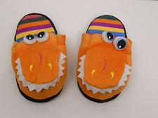 Buy Children T-REX Slippers Boys Girls Kids SIZE L House Shoes Slippers Orange