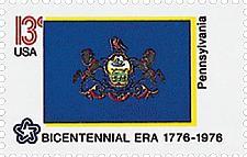 Buy 1976 13c Pennsylvania State Flag, Bicentennial Era Scott 1634 Mint F/VF NH