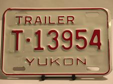 Buy Yukon License Plate Trailer T 13954 New Old Stock Vintage NOS