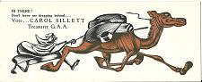 Buy Vintage Ink Blotter Political Humor Carol Sillett Treasurer Camel Dragging Rider