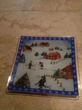 Buy holiday multicolored decorative cookie plate