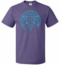 Buy Shadow of Alchemist Unisex T-Shirt Pop Culture Graphic Tee (L/Purple) Humor Funny Ner
