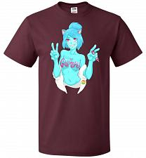 Buy Property Of Gumball Unisex T-Shirt Pop Culture Graphic Tee (L/Maroon) Humor Funny Ner