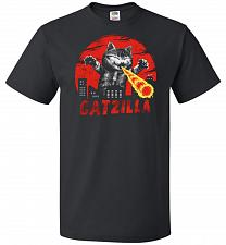 Buy Catzilla Unisex T-Shirt Pop Culture Graphic Tee (XL/Black) Humor Funny Nerdy Geeky Sh