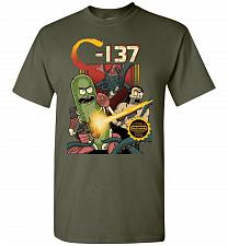 Buy C-137 Schwifty Squad Unisex T-Shirt Pop Culture Graphic Tee (5XL/Military Green) Humo