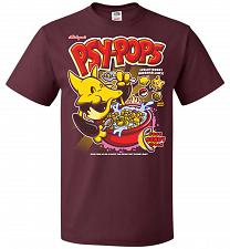 Buy Alakagam's Psy-Pops Unisex T-Shirt Pop Culture Graphic Tee (5XL/Maroon) Humor Funny N
