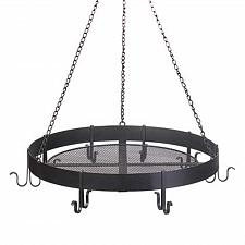 Buy 15250U - Circular Hanging 8 Hook Black Metal Pot Holder