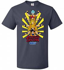 Buy Altered Saiyan Unisex T-Shirt Pop Culture Graphic Tee (5XL/J Navy) Humor Funny Nerdy