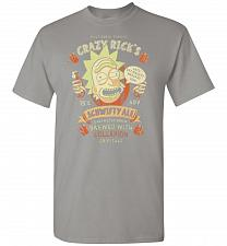 Buy Crazy Rick's Schwifty Ale Unisex T-Shirt Pop Culture Graphic Tee (M/Gravel) Humor Fun