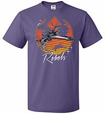 Buy Retro Rebels Unisex T-Shirt Pop Culture Graphic Tee (2XL/Purple) Humor Funny Nerdy Ge