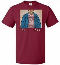 Buy EL 1983 Unisex T-Shirt Pop Culture Graphic Tee (3XL/Cardinal) Humor Funny Nerdy Geeky