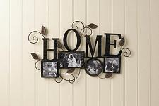 Buy *17859U - Home Black Iron Sculpture 4-Photo Frame Wall Art