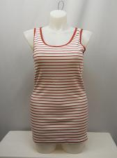 Buy Women Ribbed Tank Top Red Rum Stripe Sleeveless Scoop Neck TIME AND TRU
