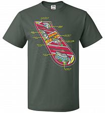 Buy Anatomy Of A Hover Board Unisex T-Shirt Pop Culture Graphic Tee (L/Forest Green) Humo