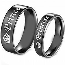 Buy coi Jewelry Tungsten Carbide Prince Princess Wedding Band Ring