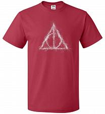 Buy Deathly Hollows Unisex T-Shirt Pop Culture Graphic Tee (2XL/True Red) Humor Funny Ner