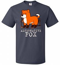 Buy Alternative Fox Unisex T-Shirt Pop Culture Graphic Tee (6XL/J Navy) Humor Funny Nerdy