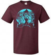 Buy Saiyan Sized Secret Unisex T-Shirt Pop Culture Graphic Tee (M/Maroon) Humor Funny Ner