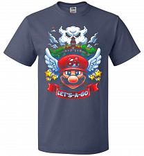 Buy Retro Mario 64 Tribute Adult Unisex T-Shirt Pop Culture Graphic Tee (S/Denim) Humor F