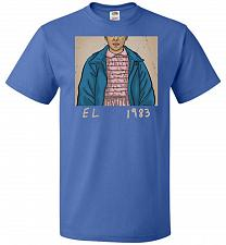 Buy EL 1983 Unisex T-Shirt Pop Culture Graphic Tee (XL/Royal) Humor Funny Nerdy Geeky Shi