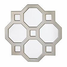 Buy *17270U - Geometric Decorative Wood Octogan Squares Wall Mirror