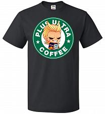 Buy Plus Ultra Coffee Unisex T-Shirt Pop Culture Graphic Tee (L/Black) Humor Funny Nerdy